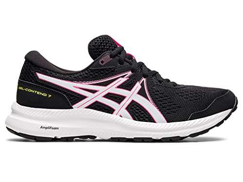 ASICS Women's Gel-Contend 7 Running Shoes, 7M, Black/HOT Pink