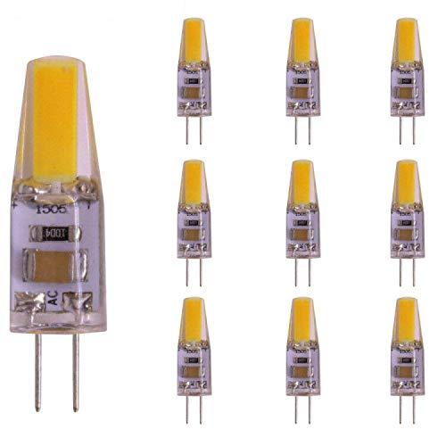 G4 LED Bi-Pin Basis, 2W, 20W Halogen Ersatz, 220V AC, kein Aufflackern, Staubdicht Stoßfest, Weiß Warmweiß für RV, Boot, Kronleuchter 10Pack (White)