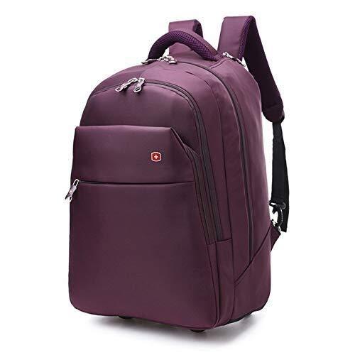 GQY Carro - multifunción Maleta Trolley Tela Carro Mochila Hombre - Bolsa de Equipaje polea Mochila (Color : Purple, Size : Small(19))