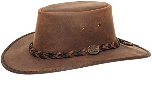 Barmah Hats Barmah 1022 Squashy Bronco Two Tone Lederhut aus Australien + Kinnriemchen | Braun/Brown | Size M