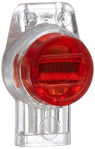 Rc-Junter DBR2 Set waterdichte connector voor 2 elektrische kabels, rood, 12 x 8 x 2 cm, 10 stuks