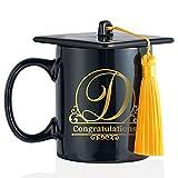 Regalo de graduación 2021 – Taza con sombrero de doctorado Bachelor con iniciales, regalos personalizados, taza de café, idea de regalo para Bachelor Master Abitur, exámenes de inventarios