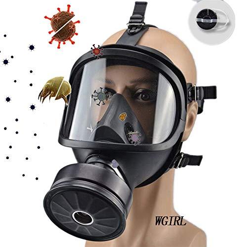 WGIRL Atemschutzhaube gegen Schadgase Voll Seal Schutz Gummi Hood