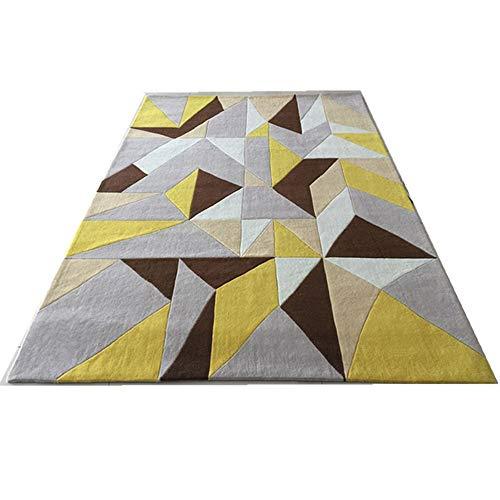 SWNN Carpet Zwischen Dem Nordic Gelben Geometrischen Teppich Schlafzimmer Wohnzimmer Bettsofa End-Modell-Shop for Handgemachte Acryl-Material Bettvorleger Matten (Size : 2 * 3m)