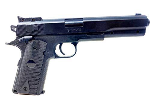 Softair Gun Set Airsoft Federdruck Pistole 23cm Inkl Magazin 0,49 Joule Black