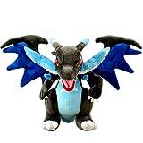 GTUPR 10-inch Pokemon Game Pokémon Fire-Breathing Dragon Cartoon Pikachu Series Charizard Stuffed Plush Toy Dolls for Children Soft Pillow (Black)