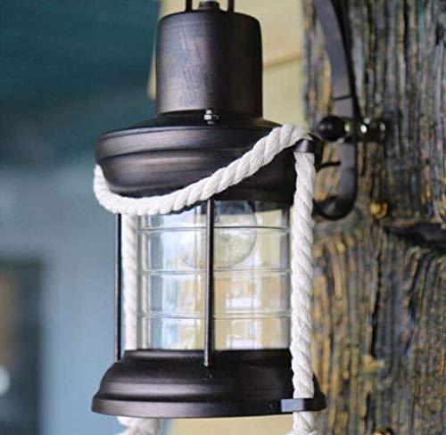 Mkjbd wandlamp wandlamp wandlamp wandlamp wandlamp wandlamp landelijke stijl antieke squallide vloerlamp van ijzer fitting lampenkap lampenkap