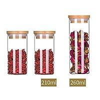 保存容器 食品の乾燥や新鮮に保つために穀物/パスタ/キャンディー/スナックための蓋の理想で封止さ食品容器穀物貯蔵容器コンビネーションガラス (Color : B)