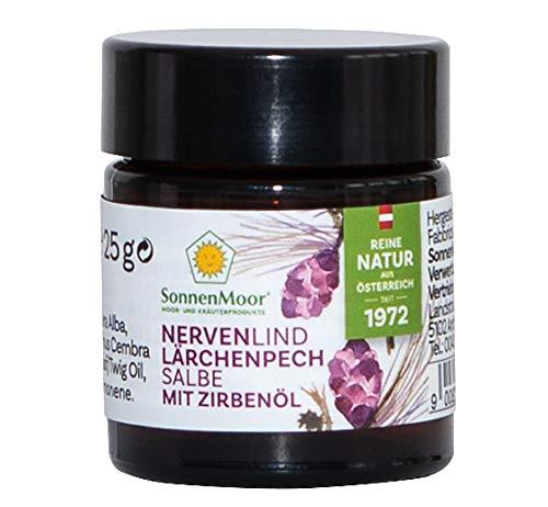 Sonnenmoor Nervenlind - Lärchenpechsalbe mit Zirbenöl, Nervencreme aus bewährter Alpenrezeptur zum Einreiben erhältlich in 25g und 90g (25g)