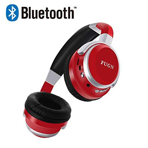 Muziek Bluetooth Hoofdtelefoon Sport Nieuwe Met Microfoon Ondersteuning TF Kaart FM Radio Beste Hoofdtelefoon Draadloze Rood Zwart Voor Mobiele telefoon, PC, Tablet,