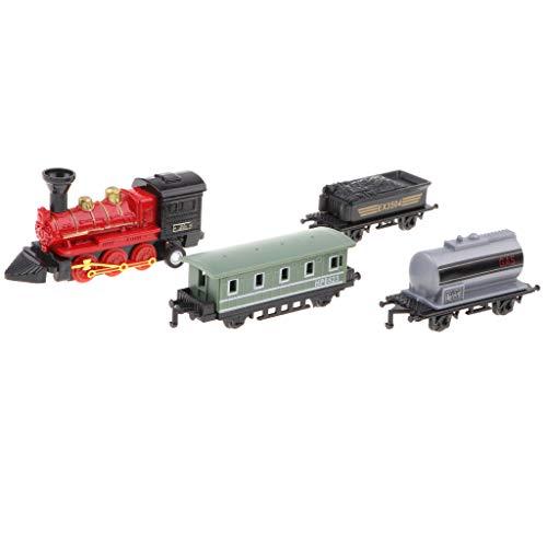 FLAMEER Zurückziehen Zug Spielzeug Eisenbahn Modell Spielzeugeisenbahn, Geschenk für Geburtstag