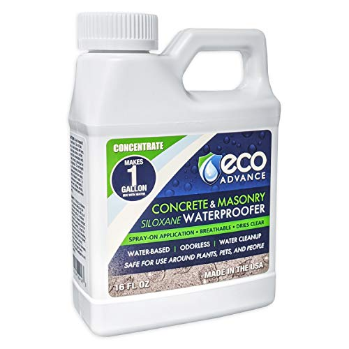 Eco Advance EACON16CON Waterproofer 16-oz Concrete/Masonry Siloxane Water proofer Liquid Concentrate