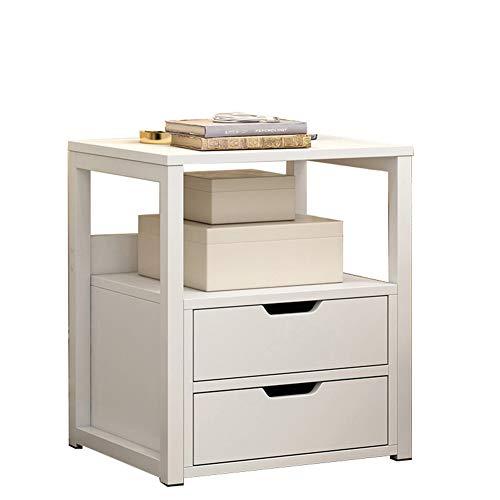 ZHAOYONGLI Table D'appoint Basse Tables Basses Café Informatique Table Coffre De Rangement Pour Chambre À Coucher (Couleur : Blanc, taille : Double drawer)