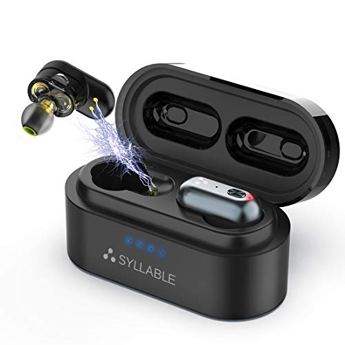 Audífonos Bluetooth, Syllable S101 Auriculares Inalámbricos Bluetooth 5.0 Estéreo In-Ear Cascos Mini…