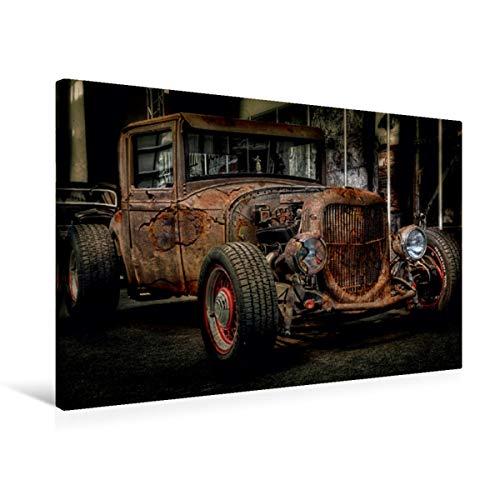 Premium - Lienzo textil 75 cm x 50 cm horizontal, un diseño del calendario de coches extraordinarios, cuadro sobre bastidor, imagen de belleza rosada (CALVENDO Mobilitaet);CALVENDO Mobilitaet