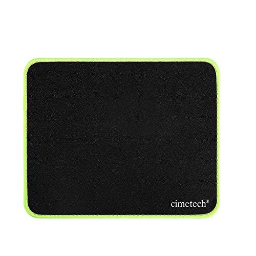 cimetech Tapis de Souris Confortable, avec Une Base Anti-Glissante en Caoutchouc, Les Bords Cousus durables, Le matériau en Tissu Scintillant, pour l'Ordinateur Portable(4MM 1PCS, Green)