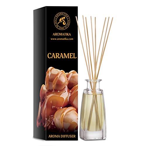 Difusor de Aroma de Caramelo 100ml - Difusor de Caña - Fragancia para la Habitación - Fragancia para el Hogar - Ambientador - Difusor de Aroma de Caramelo - Regalo