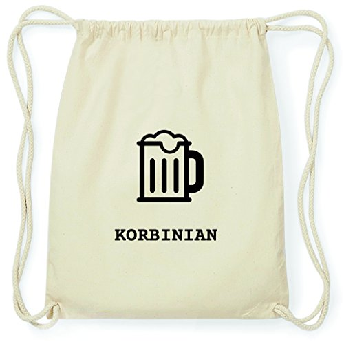 JOllify Turnbeutel - Happy Birthday - für KORBINIAN - Bier Gruß
