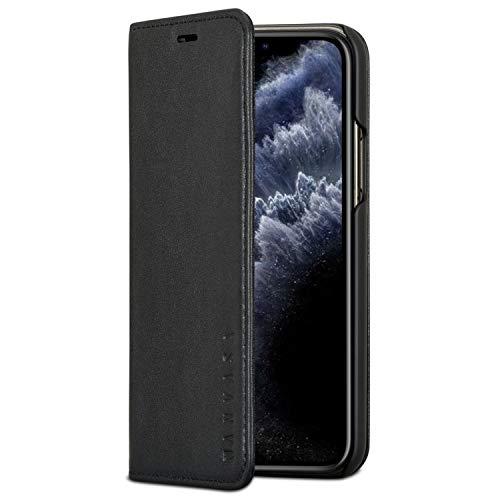 KANVASA Custodia iPhone XR Flip Case Pelle Marrone Portafoglio