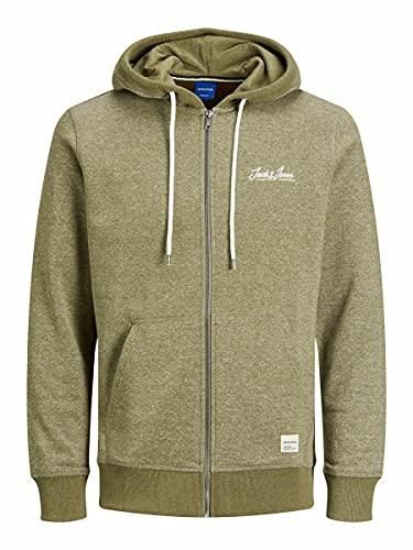 Jack & Jones Jortons Sweat Zip Hood Noos Sweatshirt Capuche, Vert Olive, XL Homme