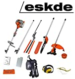 eSkde MT52-S 52cc Petrol Brushcutter Strimmer Hedge Trimmer Chainsaw 5in1 Multi...