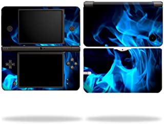 MightySkins Skin Compatible with Nintendo DSi XL wrap Sticker Skins Blue Flames