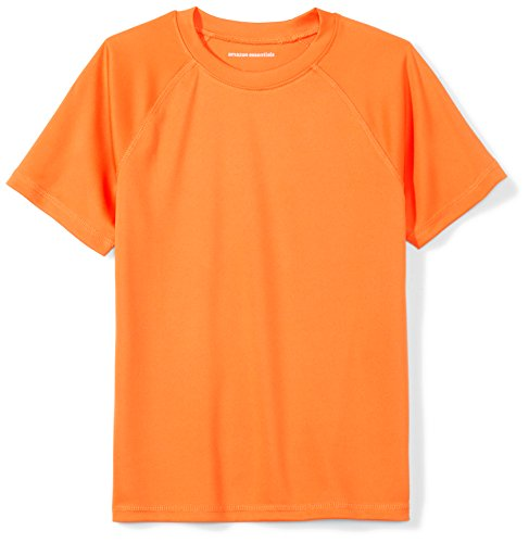 Amazon Essentials Big Boys' Swim Tee, Orange, M (8)