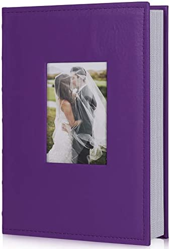 RECUTMS Premium Leather Cover Family Wedding Anniversary Baby Vacation Life Record Photo Album product image