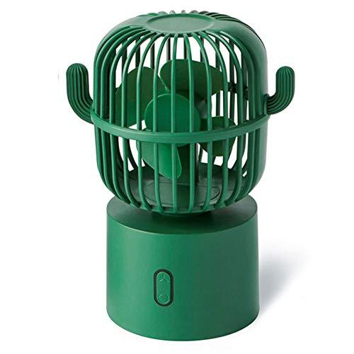 Ventilador USB, viento de 3 velocidades, ventilador automático de agitación de cabeza de cactus, ventilador de oficina, mini fan de escritorio-2