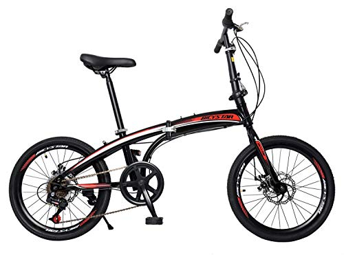 Klappfahrrad EX-7, nur 10,9 kg, Faltrad, Klapprad, Campingrad, Fahrrad 7-Gang-Schaltung, Scheibenbremsen, Aluminium