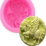 3D Pegasus Tier Silikon Seife Form Fondant Mousse Kuchen Dekorieren Form Schokolade Gumpaste Pudding...