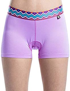 Men's underwear NEW Women Cycling Bicycle Padded Underwear Shorts MTB Shorts Outdoor Sport Road Bike Riding Shorts 4D Pad Shockproof chunjiao (Color : PURPLE, Size : M)
