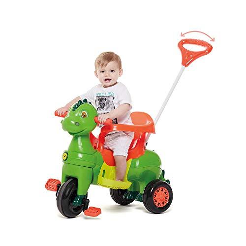 Triciclo Infantil Empurrar Passeio Didino Verde Calesita
