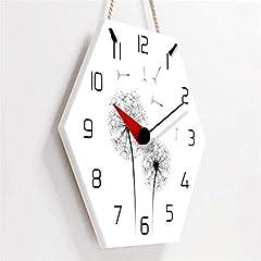TIANYOU Wall Clock Dandelion Bracket Clock Lanyard Clock Acrylic Silent Wall Clock Living Room Bedrooms Kitchen Bracket Clock 14 Inches No Ticking #2