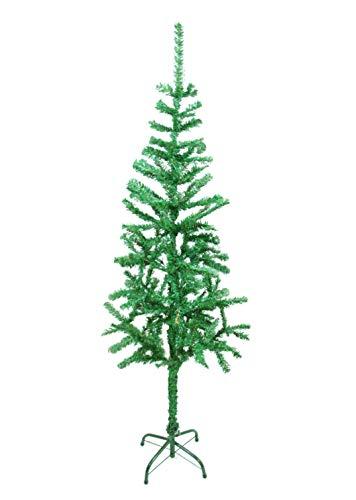Christmas Trees Sapin de Noël 150 cm économique pin vert naturel avec boîte pour le rangement.