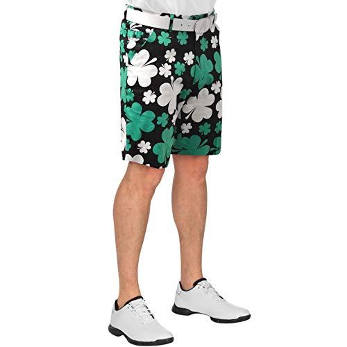 Royal & Awesome Men's Patterned Golf Shorts, Paddy Par, 30W