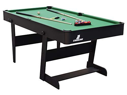 Beauty.Scouts Billardtisch Soulivan in schwarz aus Holz 152x76x79cm Pool-Table Billard Tisch Billard-Set Tischplatte Queues Kugeln zusammenklappbar