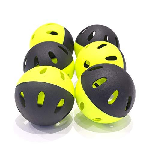 QuickPlay Softball Indestructiballs   Heavy-Duty Softball Training Balls (Pack of 6) Long Lasting Limited Flight High Impact Balls   Ultra-Durable Training Balls