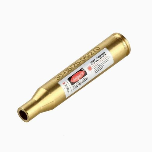 MOSANDON .30-06/25-06/270 Bore Sight Laser Red Dot Cartridge Laser bore Sighter with 2 Sets of Batteries