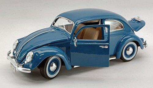 BURAGO BU12029BL VW KAFER BEETLE 1955 BLUE 1:18 MODELLINO DIE CAST MODEL