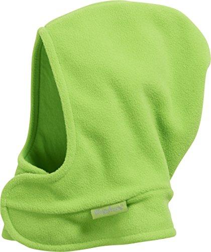 Playshoes Unisex Kinder Fleece-schalmütze mit Klettverschluß softe und atmungsaktive Schlupfm tze, Grün, 47 49cm EU