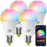 Ampoule WiFi LED E27, Compatible avec Alexa, 7W Intelligente Lumiere de Controle, Couleur RGB+ Blanc Dimmable, Compatible...