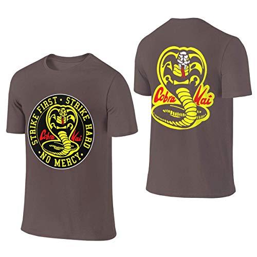 Tengyuntong Camisetas y Tops Hombre Polos y Camisas, Mens Cobra-Kai Logo Graphic Camiseta Personalizada Camisetas para Hombres Camiseta Negra de Manga Corta para Hombres