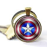 Capitán América & Invierno Soldier Logo Llavero