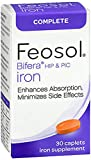 Feosol Bifera HIP & PIC Iron Supplement, Complete - 30 Caplets, Pack of 3
