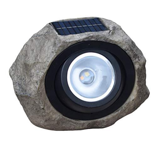 Uonlytech Solar Stone Lamp LED Solar Rock Lights Outdoor Waterproof Light Christams Garden Solar Lights Courtyard for Patio Garden Backyard Pathway Driveway Landscape Decoration (As Shown)