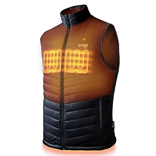Dune Men's Heated Vest - 10 hrs of Heat   3 Heat Zones   with Battery & Charger   Machine Washable...