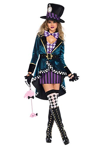 Chendong Fashion Store Hatter Kostuum Volwassen Womens Fancy Halloween Hatter Kostuum Sexy Burlesque Hatter Kostuum voor Vrouwen
