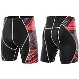 Ouqian Herren Compression Shorts Männer Enge Shorts Jogging Basketball Fitness Pants Schnell...