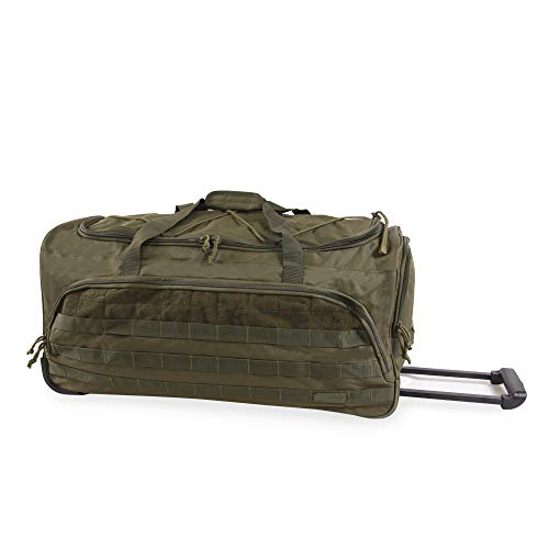 HIGHLAND TACTICAL unisex-adult 30' Squad Large Tactical Rolling Duffel Bag, Dark Green, One Size